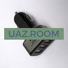 Разветвитель  сетевой (3 ГНЕЗДА USB) 'УАЗ'