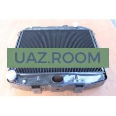 Радиатор  охлаждения  УАЗ Патриот 05-06, 3160, 3162, Хантер (409) медный ТРЁХрядный (ШААЗ)