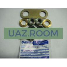 Ремкомплект  регулировочный заднего тормоза УАЗ (болт эксцентрик задний + пластина) ('АДС')