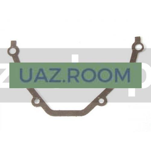 Прокладка  передней крышки ГБЦ УАЗ дв.409, ГАЗ дв.406 (паронит)** (ЗМЗ)