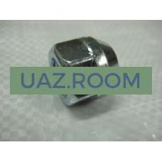 Гайка  М14х1,5 колесная  УАЗ (для легкосплавного диска, открытая под ключ 19) 1 ШТ.
