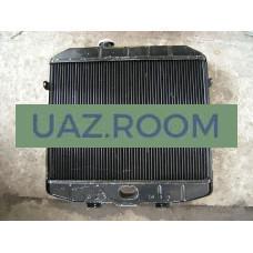 Радиатор  охлаждения  УАЗ Хантер (дв. 514) медный ТРЁХрядный (ШААЗ)