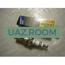 Свеча  BOSCH SUPER PLUS УАЗ 409 дв., ГАЗ 405, 406 дв. 0.8 мм  1 ШТ.  WR8DC+